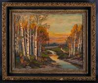 Early 20th Century American Impressionist Oil Painting