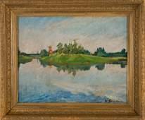 William James Glackens 1870  1938 Landscape Painting