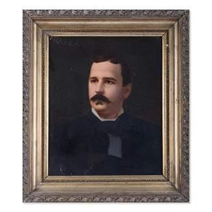 """Antique 19th Century Original Oil """"Portrait Of Man"""""""