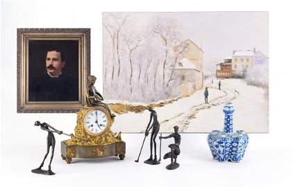 "Antique 19th Century Original Oil ""Portrait Of Woman"""