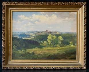 """Carl Moll (1861 - 1945) Austria Artist Oil """"Country"""