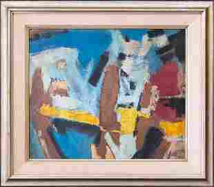 Peter Busa (1914 - 1985) Pennsylvania Artist Abstract