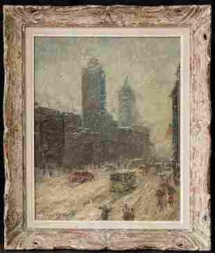 Guy Carleton Wiggins (1883 - 1962) New York Artist Oil