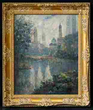 Alfred Mira (1900 - 1981) New York Artist Oil