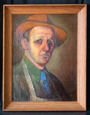 Thomas Hart Benton (1889 - 1975) Missouri Artist OIl
