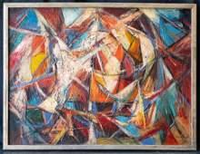 Hale Aspacio Woodruff (1900-1980) NY/France Artist OIl