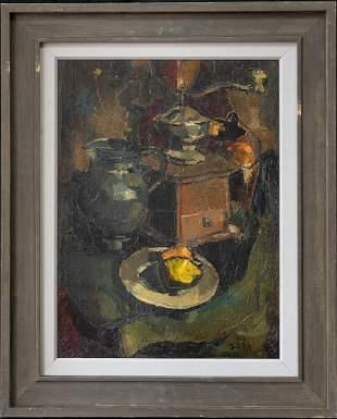 Sha Qi Sadji (1914-2005) China/Belgium Artist Oil