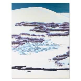 """Large Plein Air Original Oil """"Snow Mountain"""""""