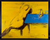 """Large Original Oil Painting By Artist Zhi Yu """"Nude"""