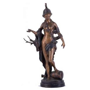 "Ealrly 20th Century Broze Sculpture ""Roman Goddess"""
