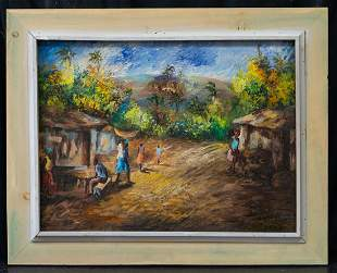 "Lois Mailou Jones 1905-1998 Oil Signed Dated ""Haiti"""