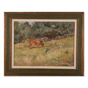 George Arthur Hays (1854 - 1945)Landscape with Cows