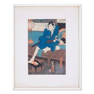 Antique Utagawa Kunisada Ukiyo-e Woodblock Print