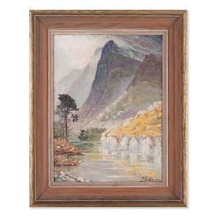 "Morris Katz (1931 - 2010) NY Artist Oil ""Landscape"""