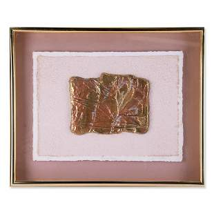 """Abstract Metal Relief Sculpture """"Time To Reflect"""" L/E"""