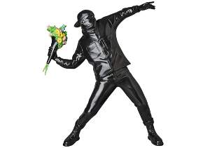 After Banksy FLOWER BOMBER(BLACK Ver.)