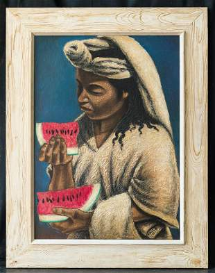 Armando Morales  (1927 - 2011) Mexican Artist Oil