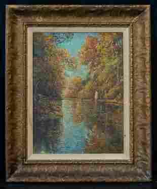Childe Hassam (1859 - 1935) American Artist Oil