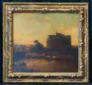 George Loring Brown (1814 - 1889) MA/NH Artist Oil