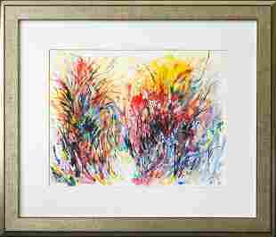 Alma Woodsey Thomas (1891 - 1978) Watercolor