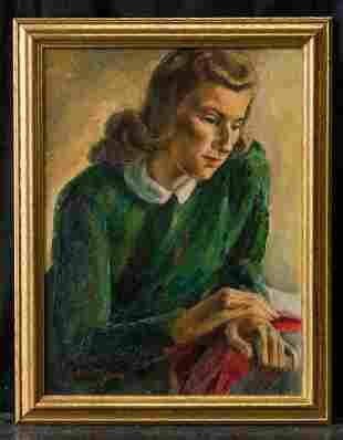 George Chann (1913 - 1995) California/China Artist Oil