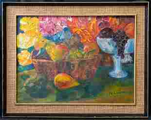 Maggie Laubser (1886 - 1973) South Africa Artist Oil