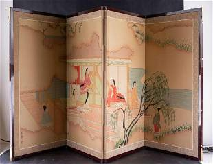 Antique Japanese Traditional Tatami Wood Screen
