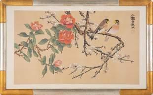 "Asia Original Watercolor On Paper ""Spring Landscape"""