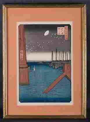 Antique Japanese Woodblock Print/Ukiyo-e By Hiroshige