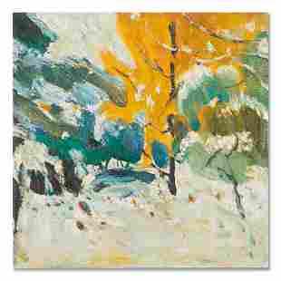 "Post impressionist Original Oil Painting ""Untitled"""