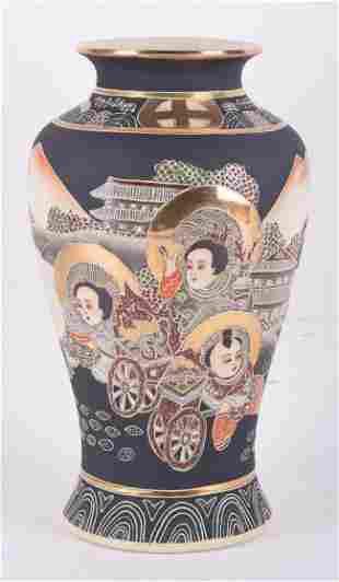 Old Vintage Japanese Satsuma Porcelain Vase
