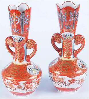Antique Japanese Satsuma Vases