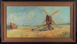 Large Vintage Dutch/American Original Oil Painting