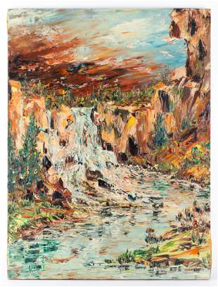 Large Canadian Listed Artist Jack McLean Oil Painting