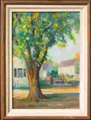 Fairfield Porter (1907 - 1975) New York Artist Oil
