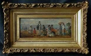 Eugene Louis Boudin ( French 1824 - 1898)   Oil /