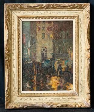 Charles Hoffbauer (1875-1957) MA/France Artist OIl