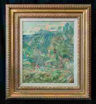 Francoise Gilot (Born 1921) NY/France Artist Oil