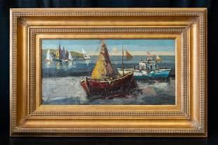 Raimonds Staprans (Born 1926) California Artist Oil