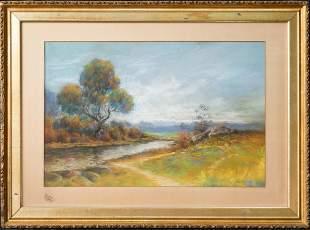 John Twachtman (1853 - 1902) NY Artist Pastel