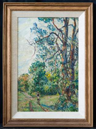 Gifford Beal (1879 - 1956) New York Artist Oil