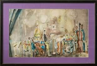 Karl Knaths (1891 - 1971) MA/WI Artist Watercolor