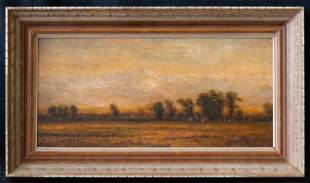 Early 20th Century Native American Oil On Board