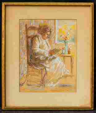 Edouard Vuillard (1868-1940) Frenc Artist Watercolor