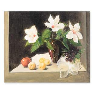 "Realist Original Oil On Canvas ""Still Life"""