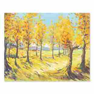"Impressionist Original  Oil Painting ""Golden Fall"""