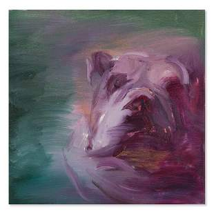 """Abstract Original Oil ON Canvas """"The Dog"""""""