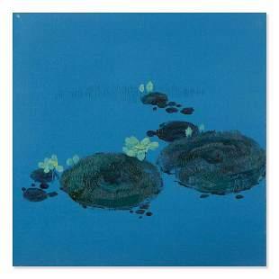"Original Surrealist Oil On Canvas ""Green Lotus"""