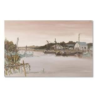 "Original Architecture Oil On Canvas ""Untitled"""