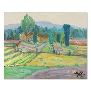 "Post Impressionist Original Oil Painting ""Fields Of"